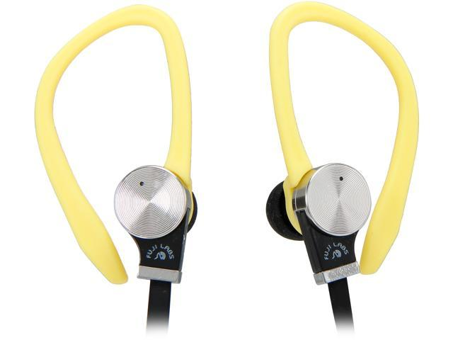 Fuji Labs Yellow AUFJ-SQWBS306YE 3.5mm Connector Sonique SQ306 Premium Beryllium In-Ear Headphones with In-line Mic
