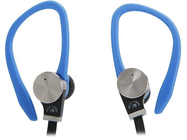 Fuji Labs Blue AUFJ-SQWBS306BL 3.5mm Connector Sonique SQ306 Premium Beryllium In-Ear Headphones with In-line Mic