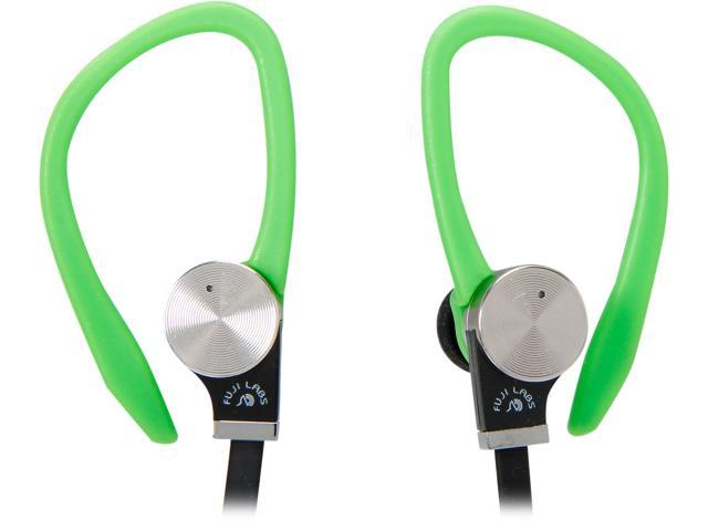 Fuji Labs Green AUFJ-SQWBS306GR 3.5mm Connector Sonique SQ306 Premium Beryllium In-Ear Headphones with In-line Mic