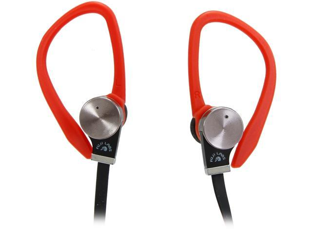 Fuji Labs Red AUFJ-SQWBS306RE 3.5mm Connector Sonique SQ306 Premium Beryllium In-Ear Headphones with In-line Mic