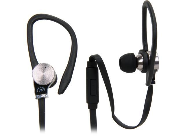 Fuji Labs Black AUFJ-SQWBS306BK 3.5mm Connector Sonique SQ306 Premium Beryllium In-Ear Headphones with In-line Mic