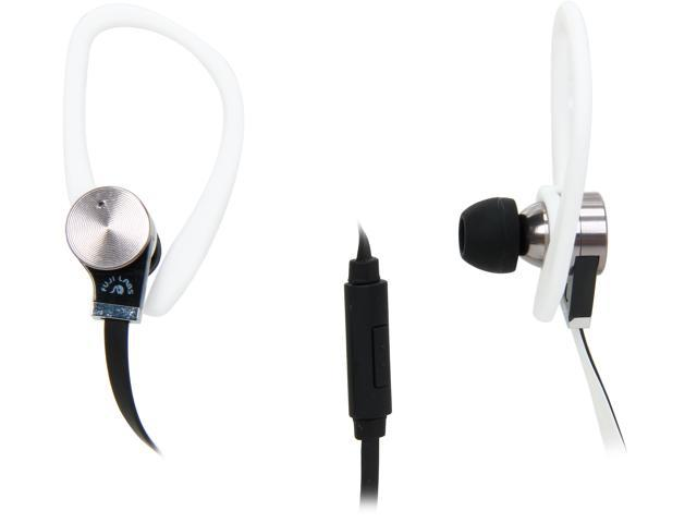 Fuji Labs White AUFJ-SQWBS306WH 3.5mm Connector Sonique SQ306 Premium Beryllium In-Ear Headphones with In-line Mic