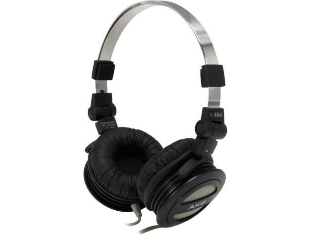 AKG K404BLK 3.5mm Connector On-Ear Foldable Mini On-The-Go Headphone