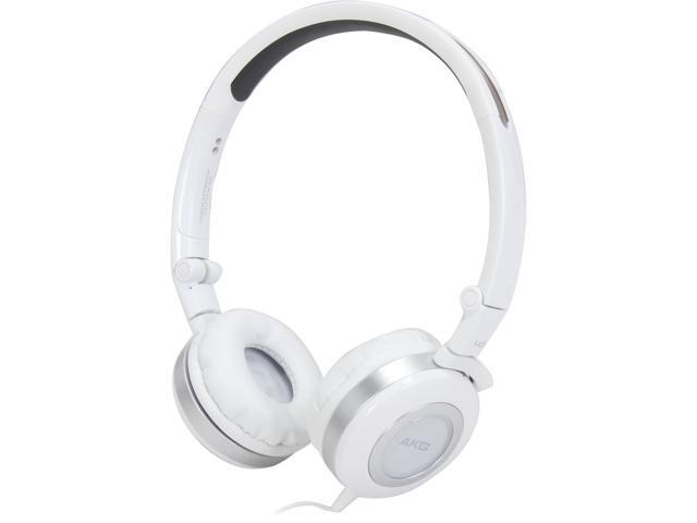 AKG K430WHT 3.5mm/ 6.3mm Connector On-Ear Foldable Mini Headphone (White)