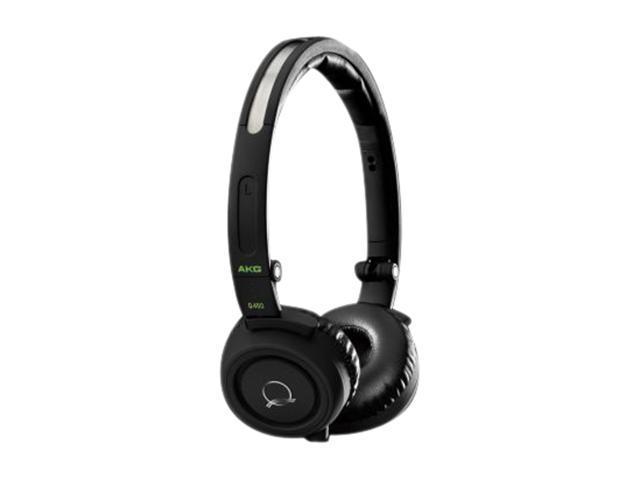 AKG Black with Lime Accents Q460BLK 3.5mm Connector On-Ear Quincy Jones Signature Line Foldable Mini Headphone (Black)