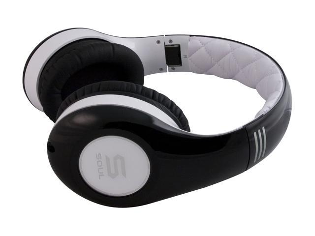 Soul by Ludacris White/Black SL300WB 3.5mm Connector Circumaural High Definition Noise Cancelling Headphone