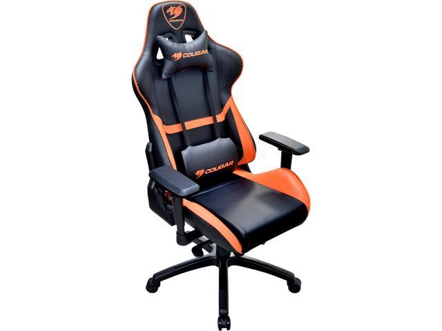 cougar armor gaming chair black and orange