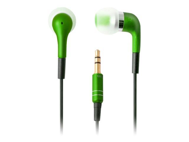 Ifrogz EarPollution Luxe MicroBud EP-LB-GREEN 3.5mm Connector Canal Headphone (Green)