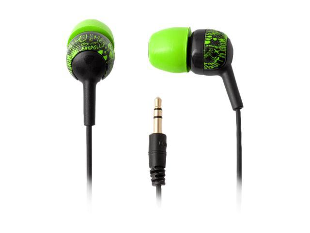 Ifrogz EarPollution Crew EP-CG- GREEN 3.5mm Connector Canal Headphone (Green)