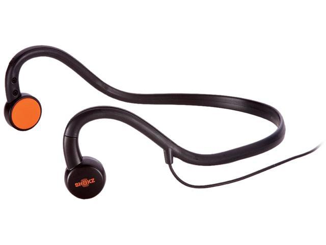 AfterShokz Black with orange pads AS321 3.5mm Connector Sportz M2 with Mic Headphones -
