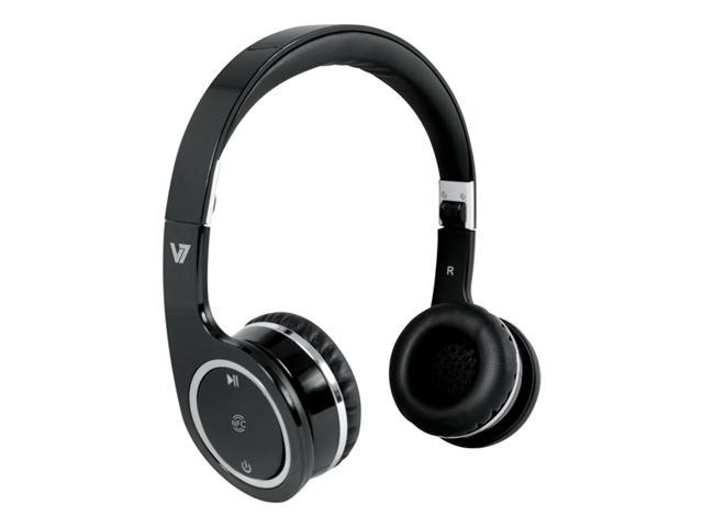 V7 Black HS6000-BT-BLK-9NC Circumaural Bluetooth/NFC Headset