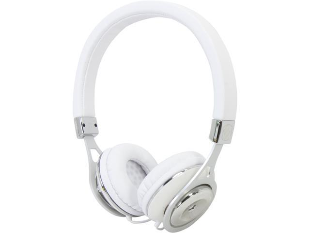SCOSCHE White RH656M 3.5mm Connector Reference Grade On-ear Headphones (white) With TAPLINE III