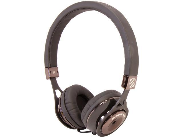SCOSCHE Black RH656MD Reference Grade On-ear Headphones (Black) With TAPLINE III