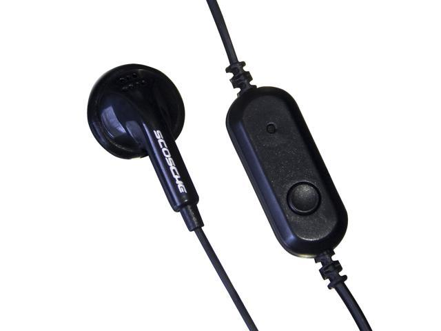 SCOSCHE soloBUD 3.5mm Handsfree Headset with Mono Earbud & Mic HP32M