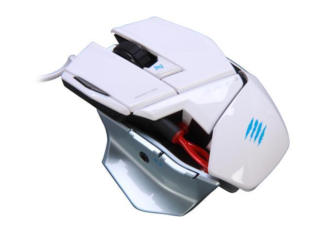 Mad Catz R.A.T. 3 MCB437030001/04/1 White 1 x Wheel USB Wired 3500 dpi Gaming Mouse for PC and Mac