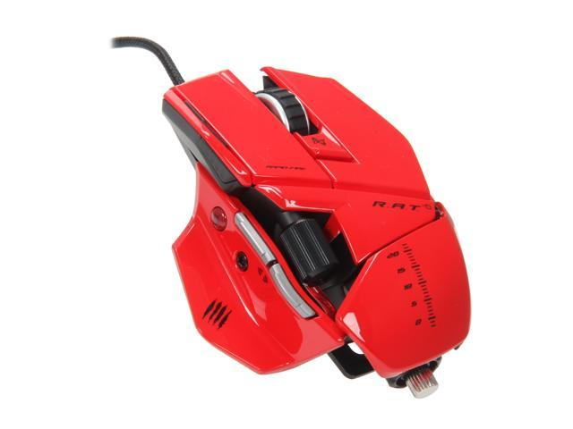 Mad Catz R.A.T.5 Gaming Mouse for PC and Mac - Red