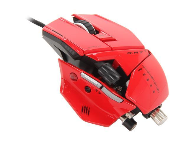 Mad Catz R.A.T.7 Gaming Mouse for PC and Mac - Red