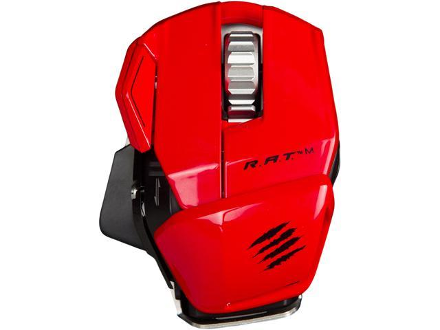 Mad Catz R.A.T. M MCB437100013/04/1 Red 1 x Wheel USB Laser 6400 dpi Gaming Mouse