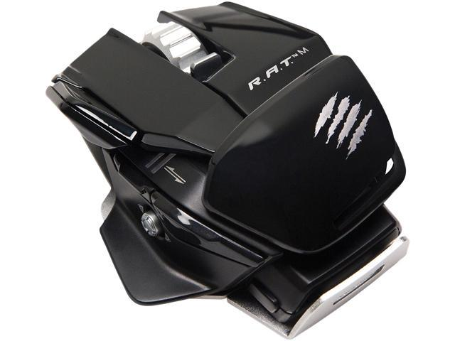 Mad Catz R.A.T. M MCB4371000C2/04/1 Glossy Black 1 x Wheel USB Laser 6400 dpi Mobile Gaming Mouse