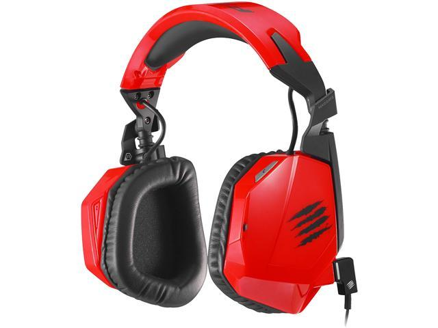 Mad Catz F.R.E.Q.3 Stereo Headset for PC, Mac, and Smart Devices Red