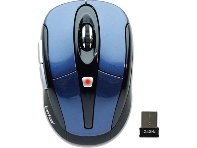 GEAR HEAD MP2650BLU Blue USB RF Wireless Optical Mouse