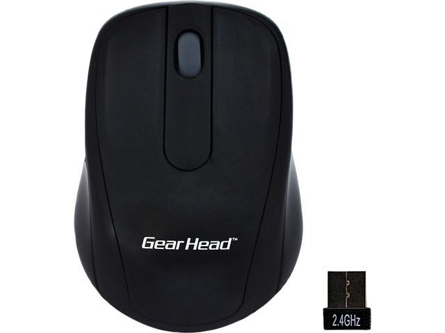 GEAR HEAD 2.4 GHz Wireless Optical Nano Mouse MP2120BLK Black 2 Buttons 1 x Wheel Bluetooth RF Wireless Optical 1000 dpi Mouse