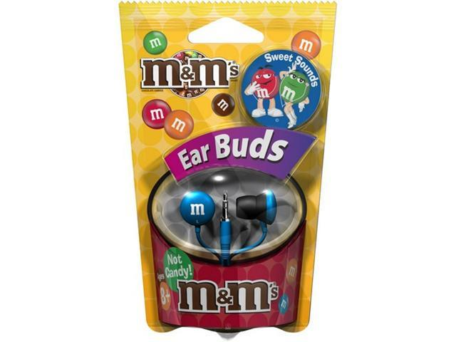 Maxell M&M'S 190552 (MMEB-B) 3.5mm Connector Canal Earphone (Blue)