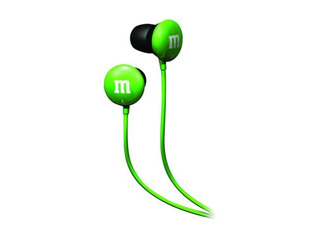 Maxell 190557 - MMEBG 3.5mm Connector Canal M&M Green Ear Bud