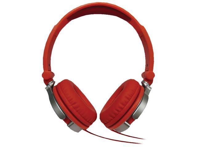 Maxell Red 190634 - DJ1R Dj1r Heavy Bass Dj-style Headphones
