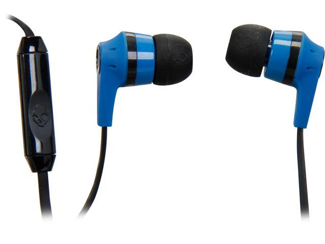 Skullcandy Blue/ Black S2IKDY-101 3.5mm Connector Ink'd 2.0 Earbud Headphones with Mic, Blue/ Black
