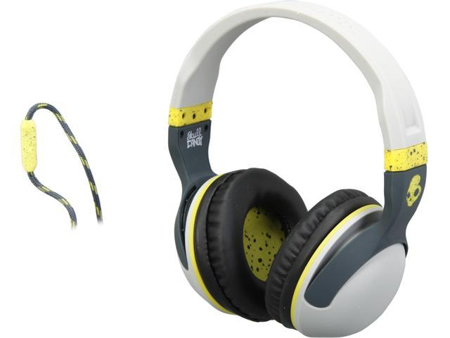 Skullcandy Gray/Dark Gray/Hot Lime S6HSGY-384 Hesh 2 Micd Light Over-Ear Headphones with Mic
