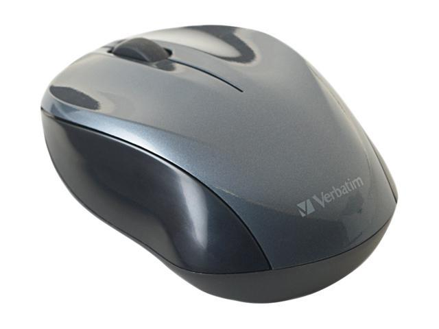 Verbatim 97670 Graphite 1 x Wheel USB RF Wireless Optical Nano Notebook Mouse