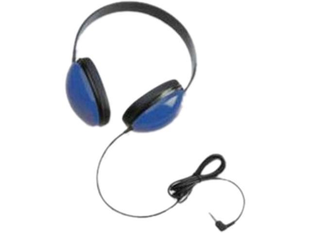 Califone 2800-BL Right angle 3.5mm mini plug Connector Supra-aural Listening First Stereo Headphones, Black