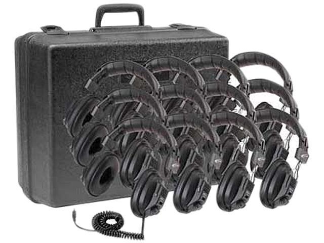 Ergoguys 3068-12 3.5mm Connector Binaural 12-pack Califone Headphone Volume with Case Via