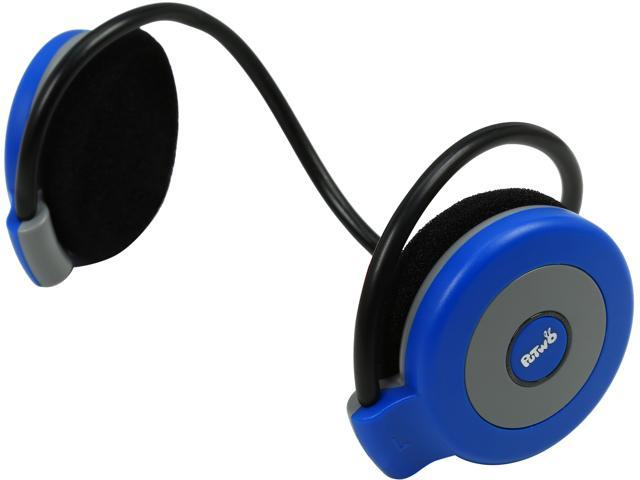 PuTwo Black/Blue BT08 Lightweight Sports Bluetooth Stereo Headphones with Microphone