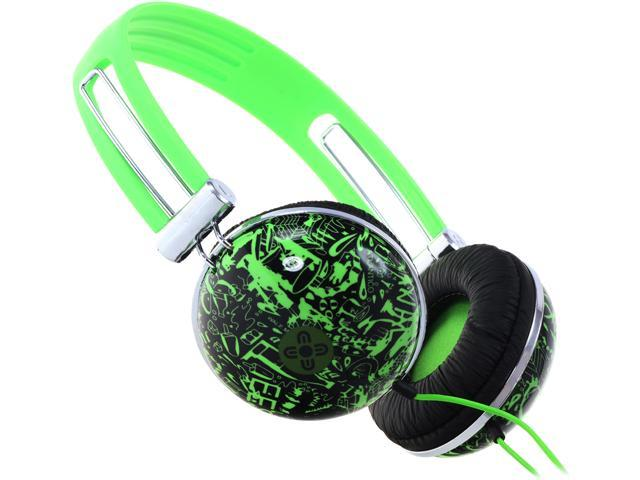 Moki Green ACCHPDG 3.5mm Connector Dome Headphones - Green