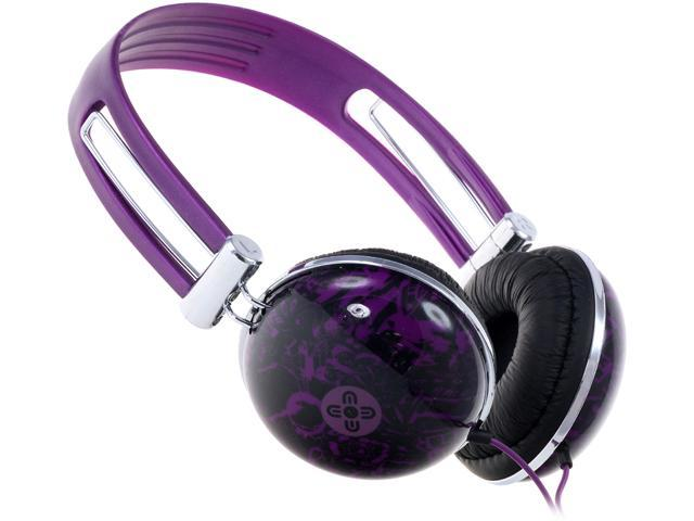 Moki Violet ACCHPDVI 3.5mm Connector Dome Headphones - Violet