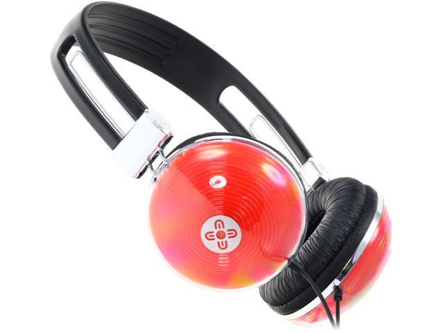 Moki Orange ACCHNR Neon Headphones - Red