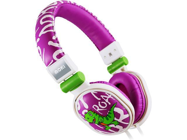 Moki Dinosaur Purple ACCHPPOA Popper Headphones - Dinosaur Purple