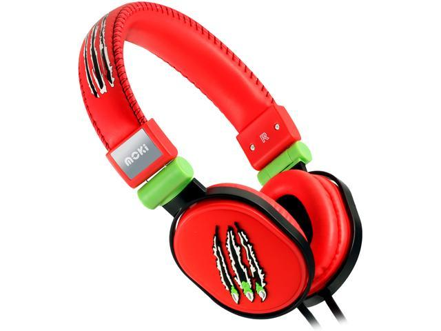 Moki Claw Red ACCHPPOB Popper Headphones - Claw Red