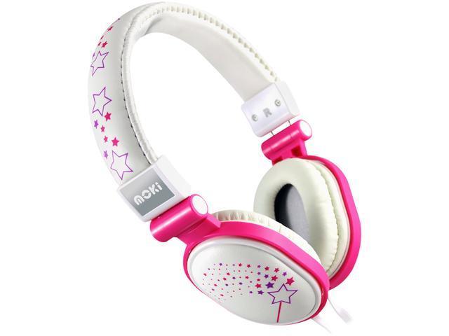 Moki Sparkles White ACCHPPOD Popper Headphones - Sparkles White