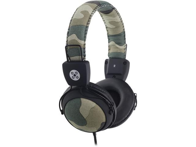 Moki Green ACC HPCAMG 3.5mm Connector Camo Headphones