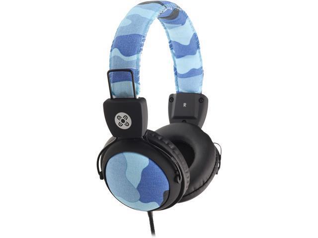 Moki Blue ACC HPCAMB 3.5mm Connector Camo Headphones