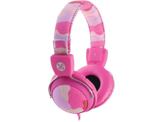 Moki Pink ACC HPCAMP 3.5mm Connector Camo Headphones