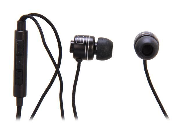 BOOM Commander Black 3.5mm gold-plated plug Connector In-Ear Headphone (Black)