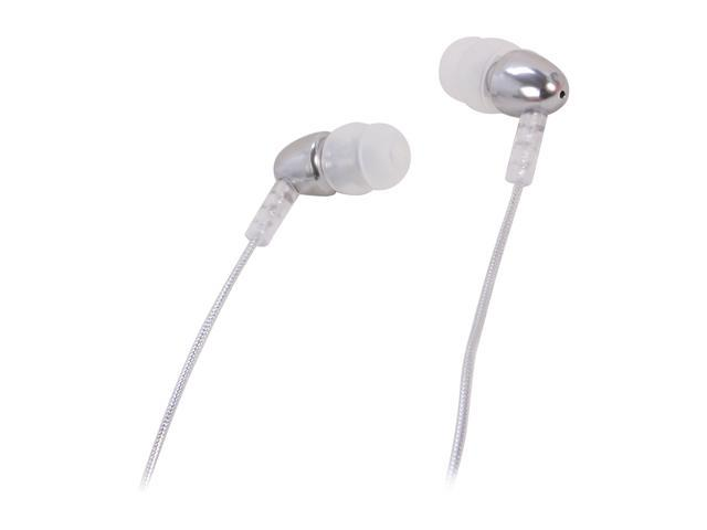 MEElectronics N8-CR 45 degree 3.5mm stereo, gold plated Connector Binaural Noise Isolasion In Ear Headphones (Chrome)
