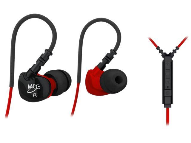 MEElectronics Black/Red EP-SF6P-RDBK-MEE 3.5mm Connector Sport-Fi S6P Memory Wire In-Ear Earphones -