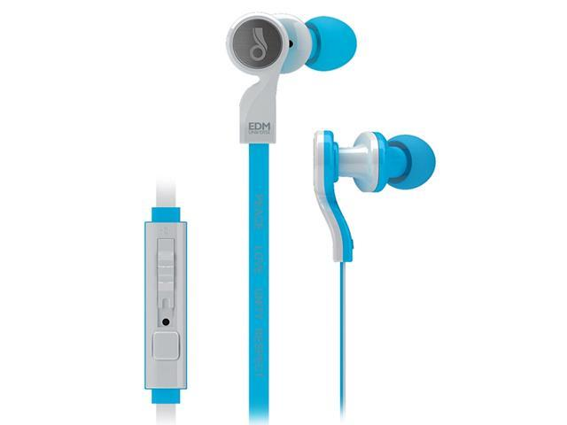 MEElectronics EDM Universe In-Ear Headphones with Headset Functionality and Universal Volume Control (Peace/Blue)