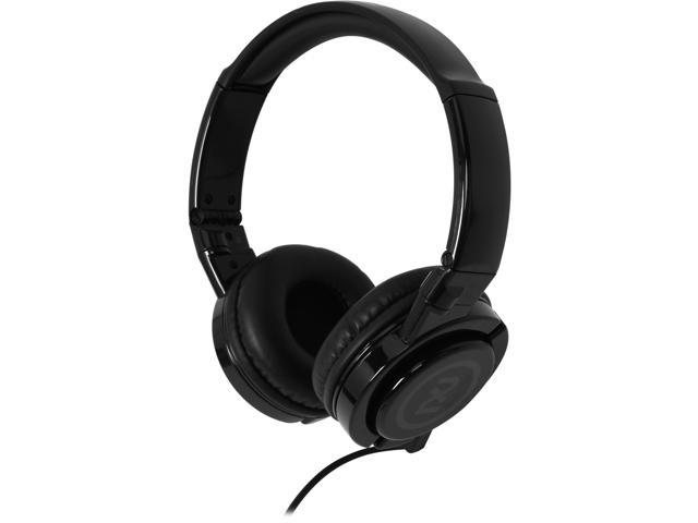 2XL Black X6FTFZ-820 3.5mm Connector Phase DJ Headphone with Articulating Ear-Cups