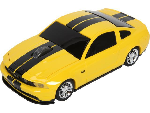 Road Mice Mustang HP-11FDMGYXK Yellow With Black Stripes 1 x Wheel USB RF Wireless Optical 800 dpi Mouse